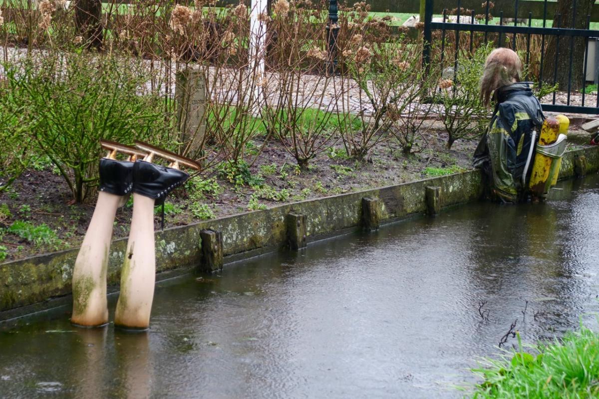wandeling 10-3-2020 Broek in Waterland. Zuidkant van het dorp vlak bij de Vogelmeerpolder.